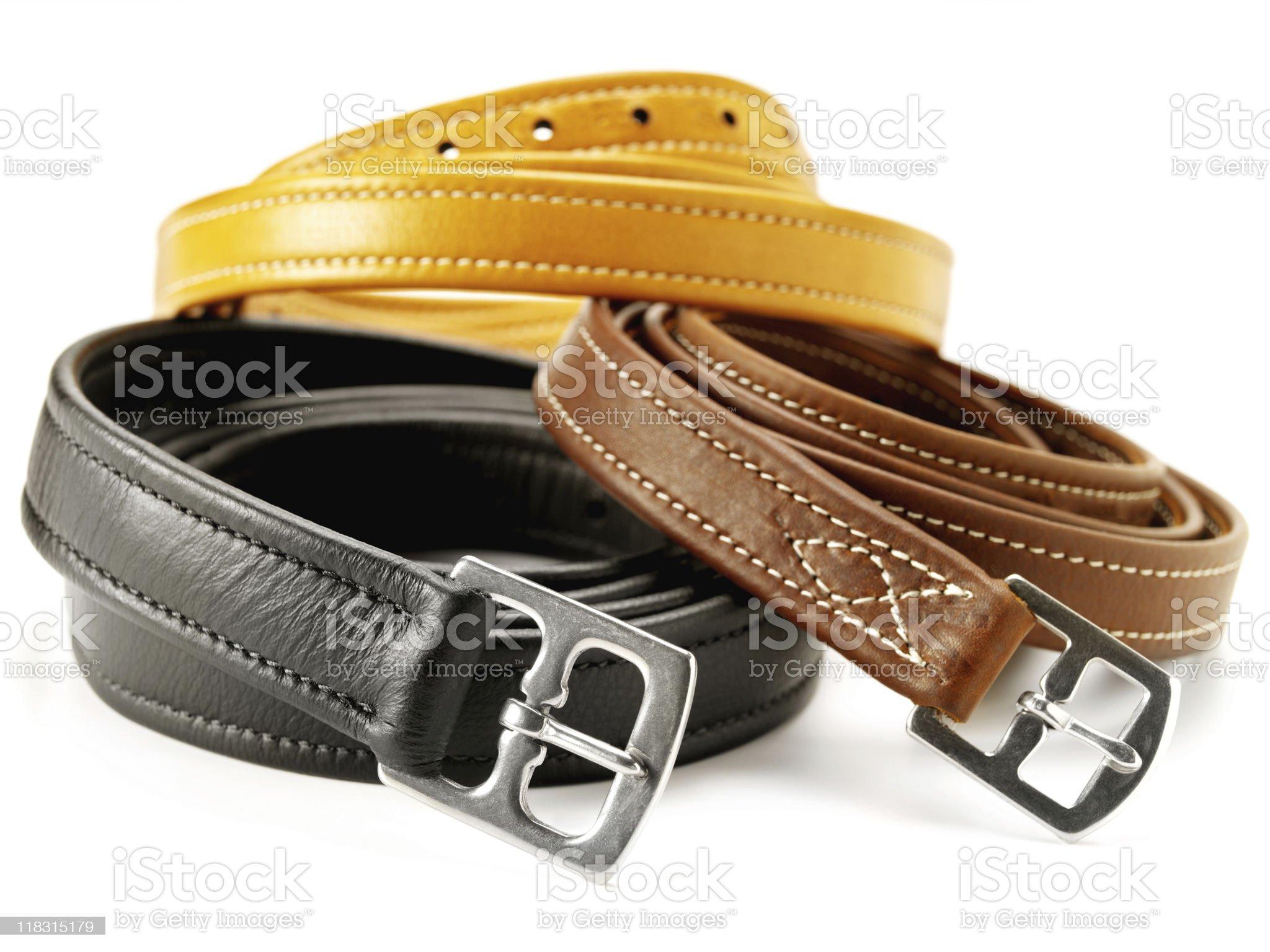 Three Belts royalty-free stock photo