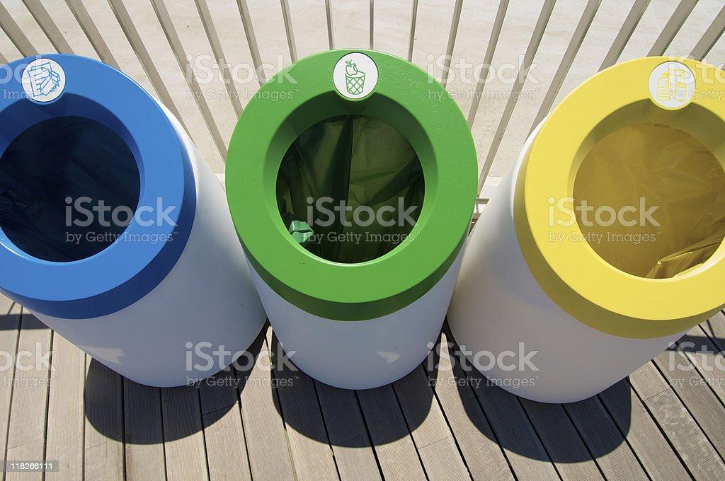 three bins stock photo