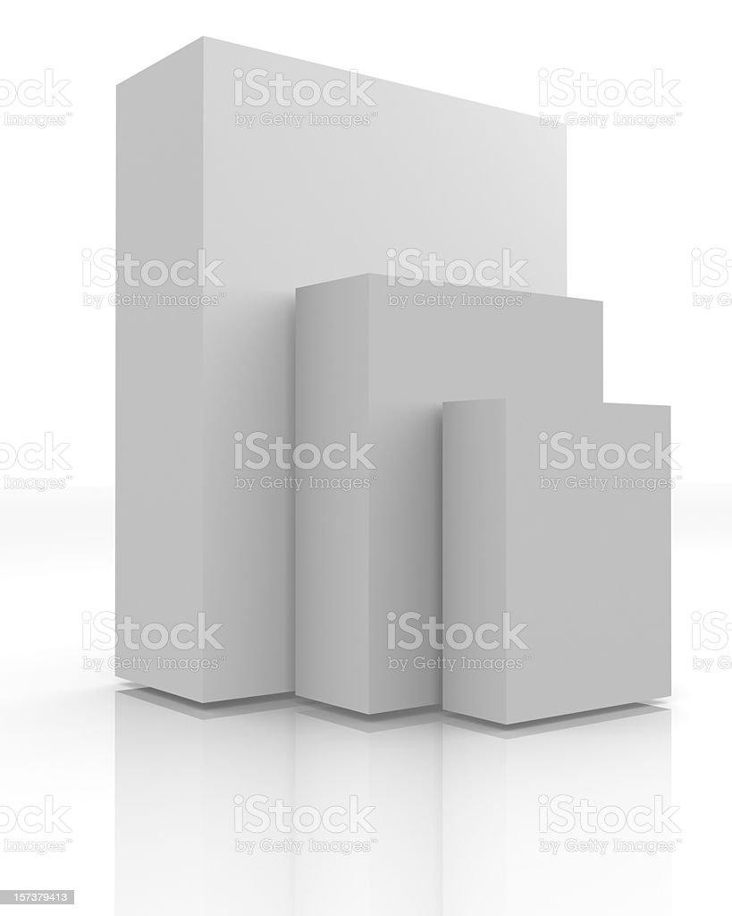Three blank boxes royalty-free stock photo