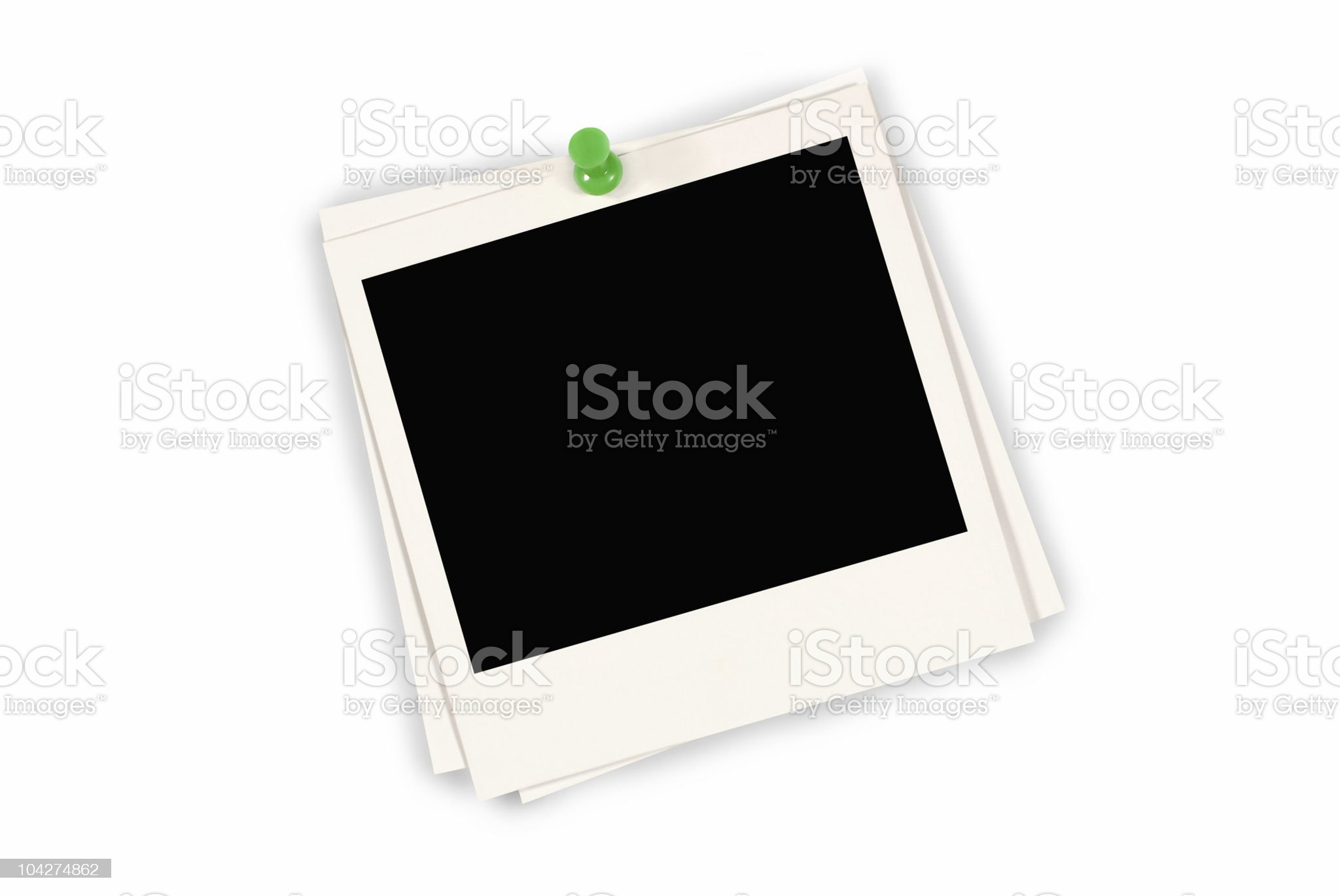 Three blank instant print pictures royalty-free stock photo