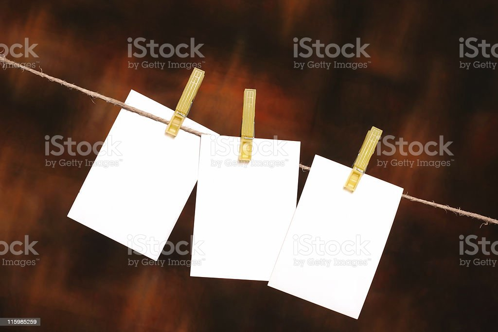 Three Blank memo Sheets with place for your text royalty-free stock photo