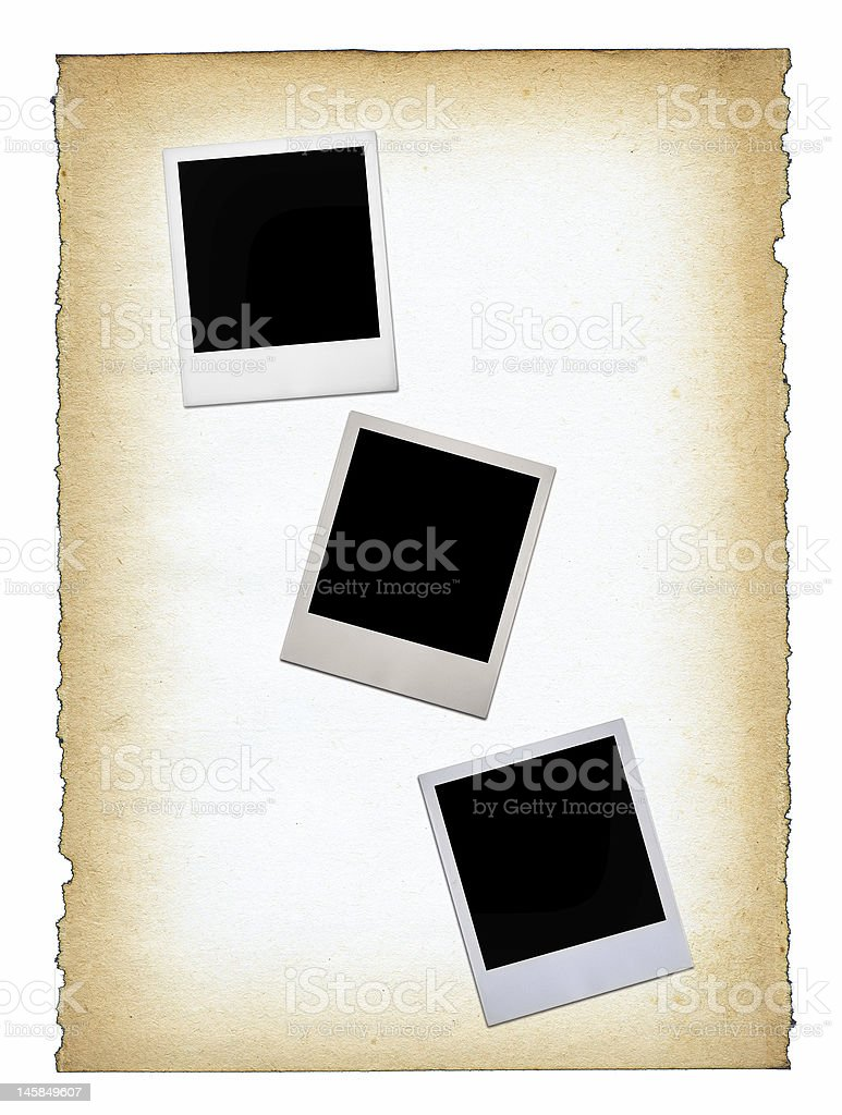 three blank photo frames royalty-free stock photo