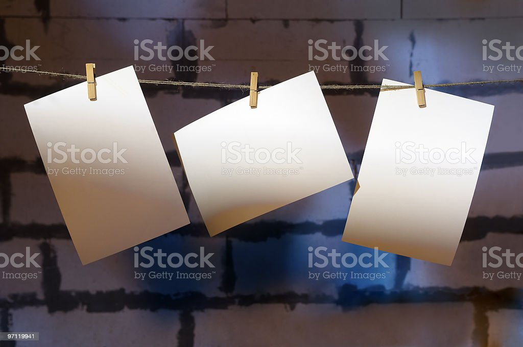Three blank picture. stock photo