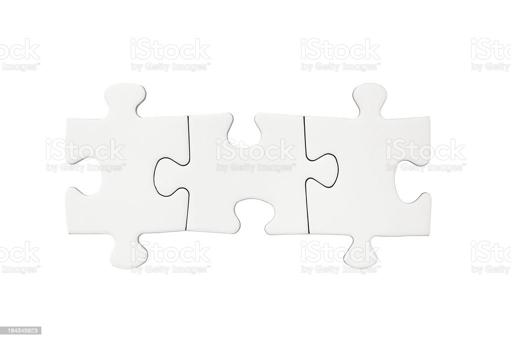 Three Blank Puzzle Pieces stock photo
