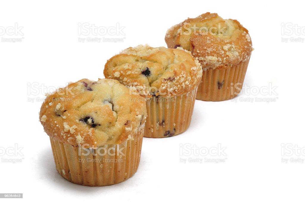 Three Blueberry Muffins stock photo