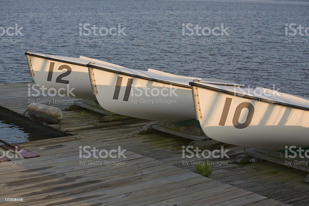 Three Boats stock photo