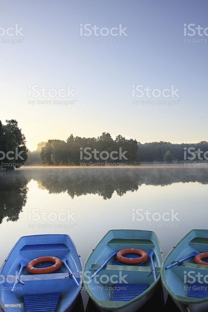 Three boats royalty-free stock photo