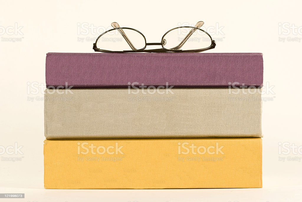 Three Books With Blank Spines stock photo