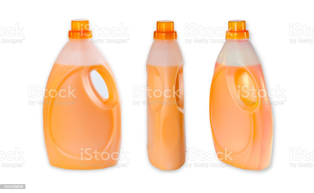Three bottle with Fabric Softener stock photo
