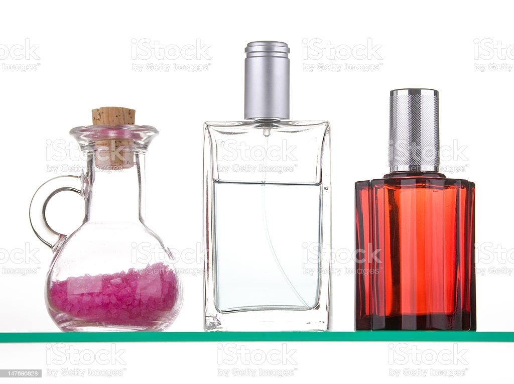 Three bottles from the bathroom royalty-free stock photo