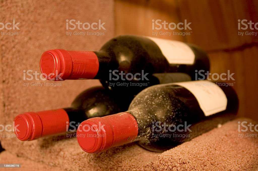 three bottles of wine royalty-free stock photo