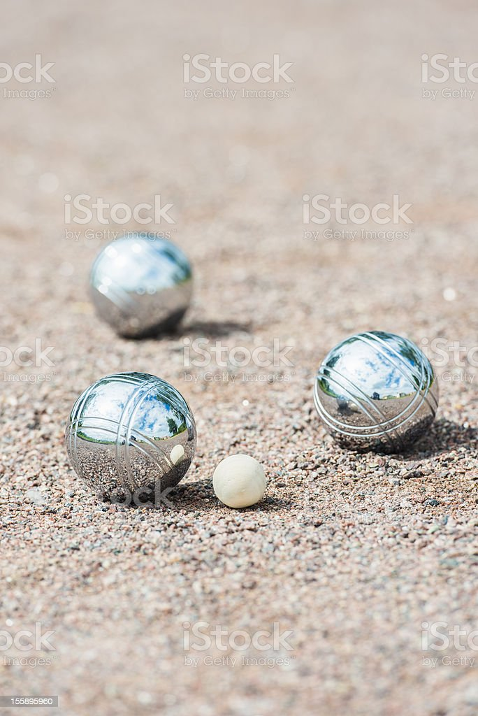 Three boule balls royalty-free stock photo