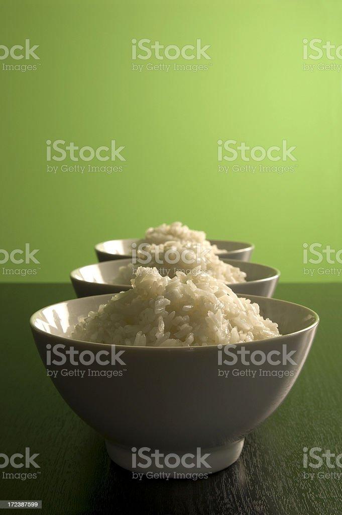 Three bowls of rice. royalty-free stock photo