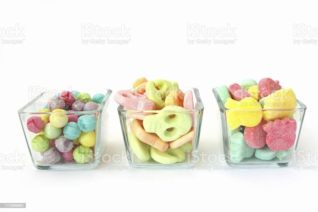 three bowls of sweets royalty-free stock photo