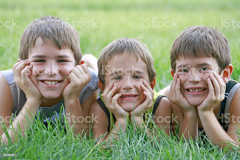 Three Boys stock photo