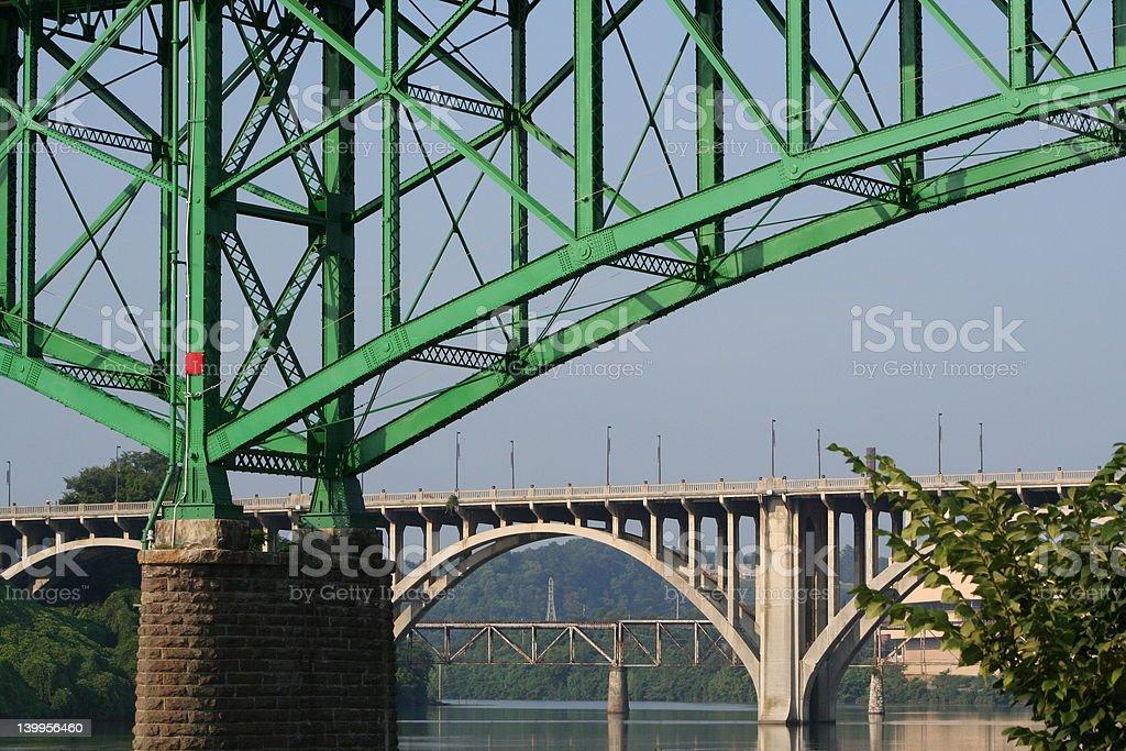 Three Bridges stock photo