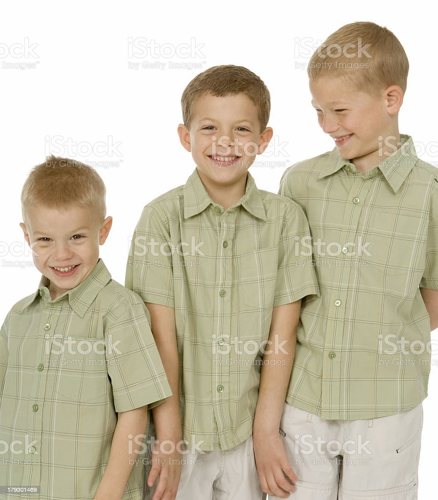 Three Brothers - Cheerful Portrait stock photo