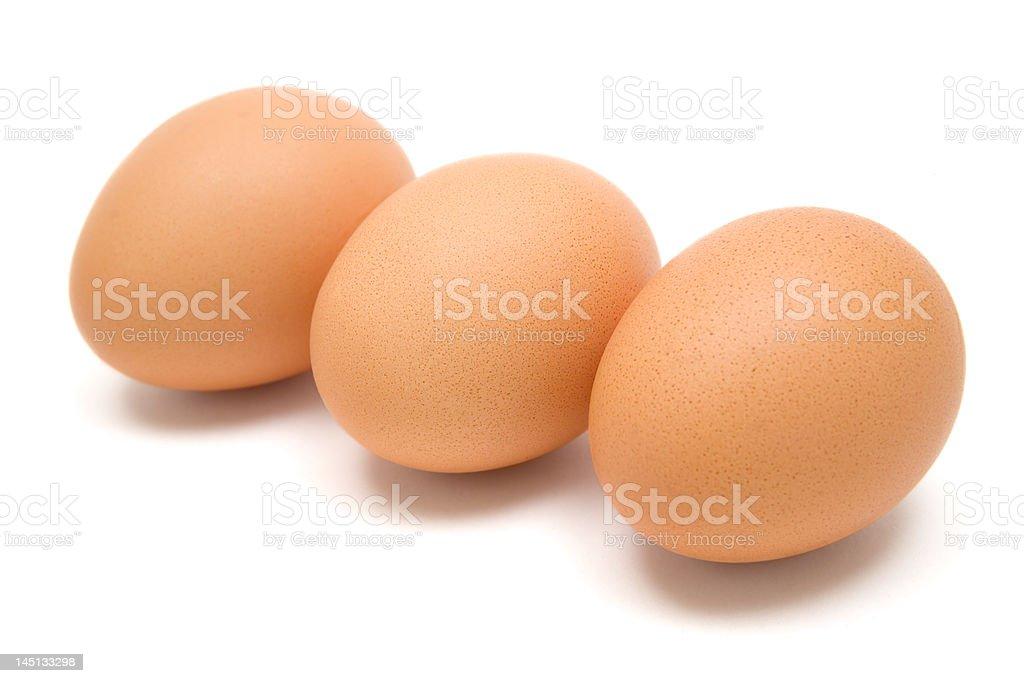 Three Brown Eggs royalty-free stock photo