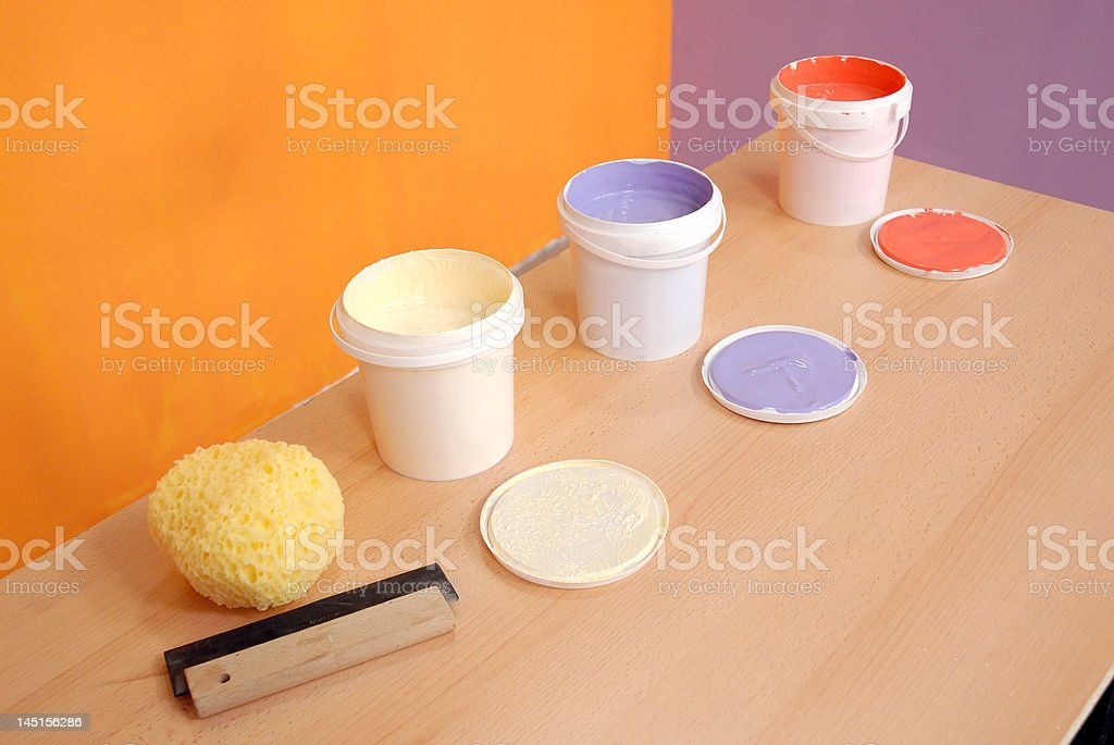 three buckets royalty-free stock photo