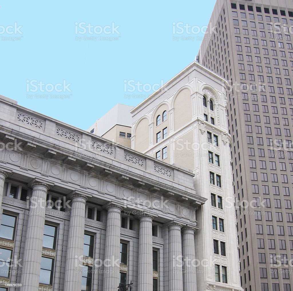 Three Buildings royalty-free stock photo