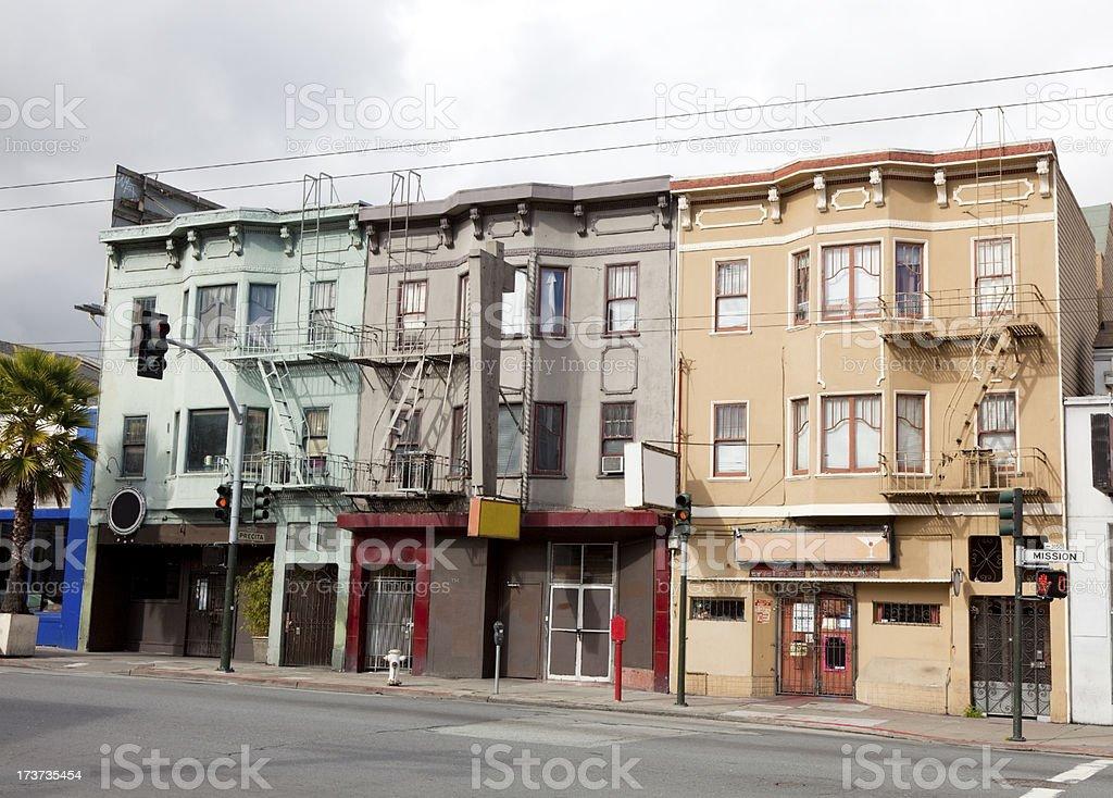 Three Buildings stock photo