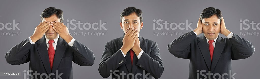 Three Businessman with Expression stock photo