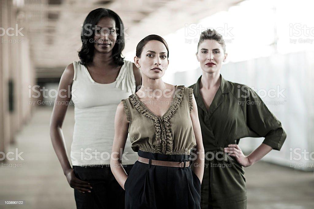 Three businesswomen stock photo