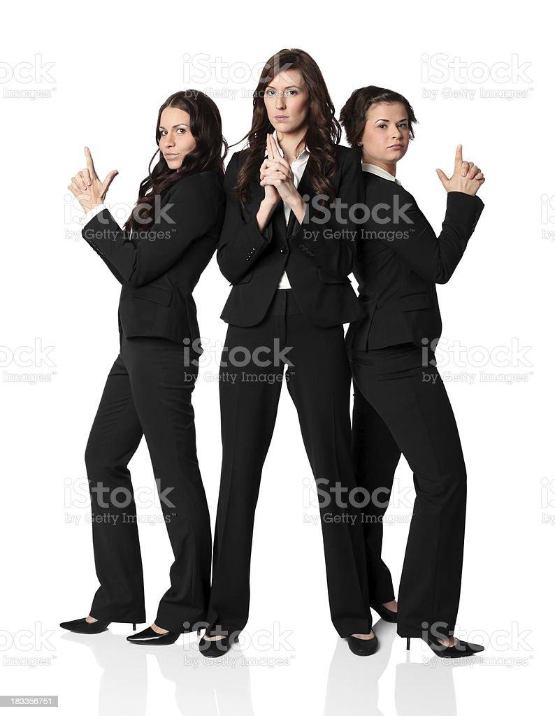 Three businesswomen posing stock photo