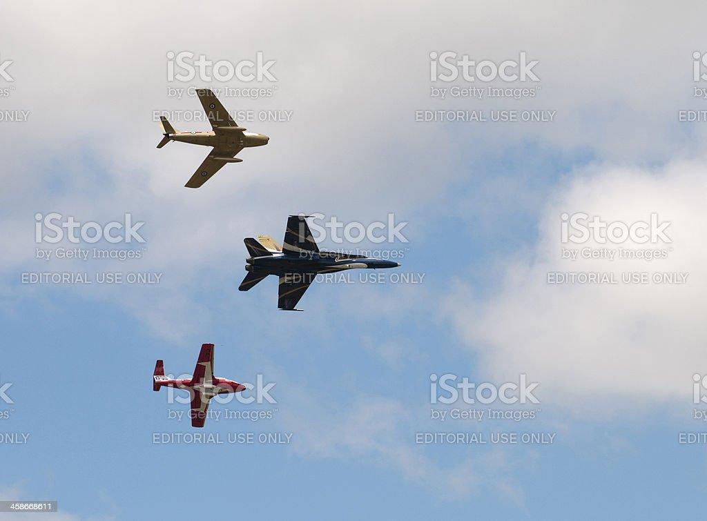 Three Canadian Jets stock photo