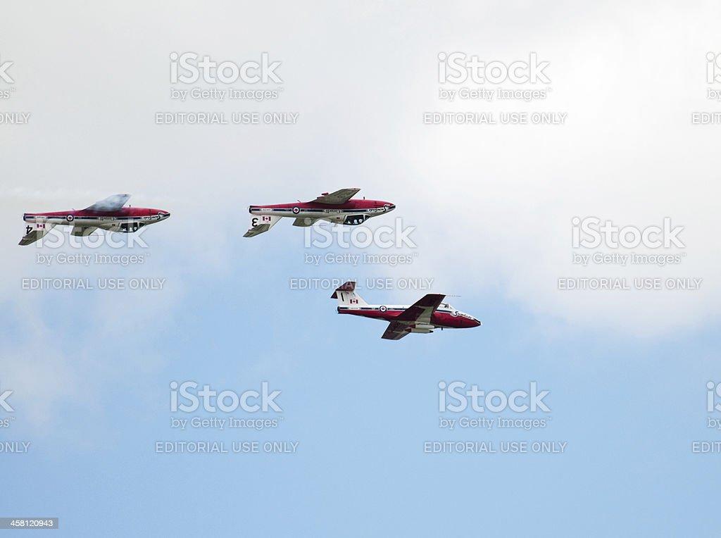 Three Canadian Snowbird Jets stock photo