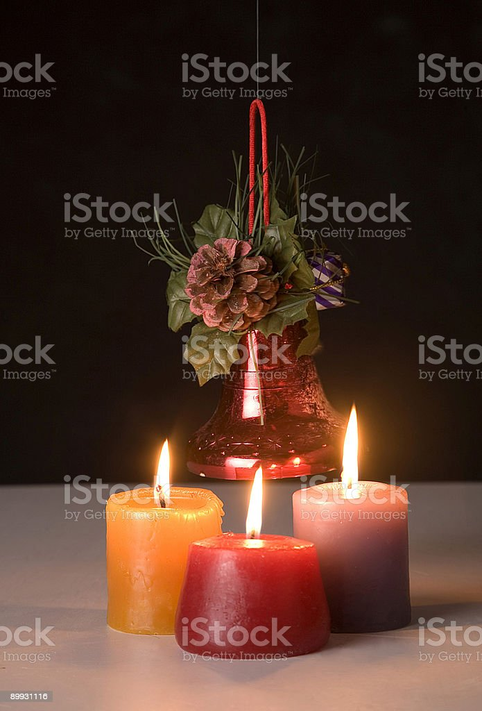 three candle royalty-free stock photo