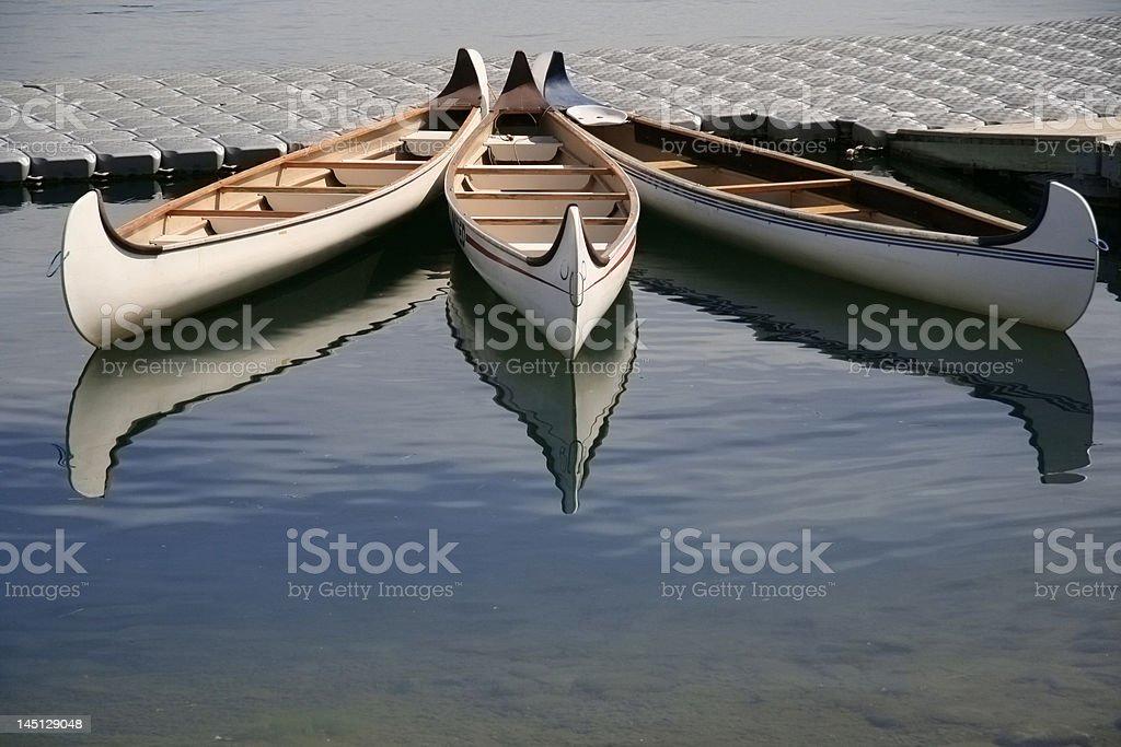 Three canoes royalty-free stock photo