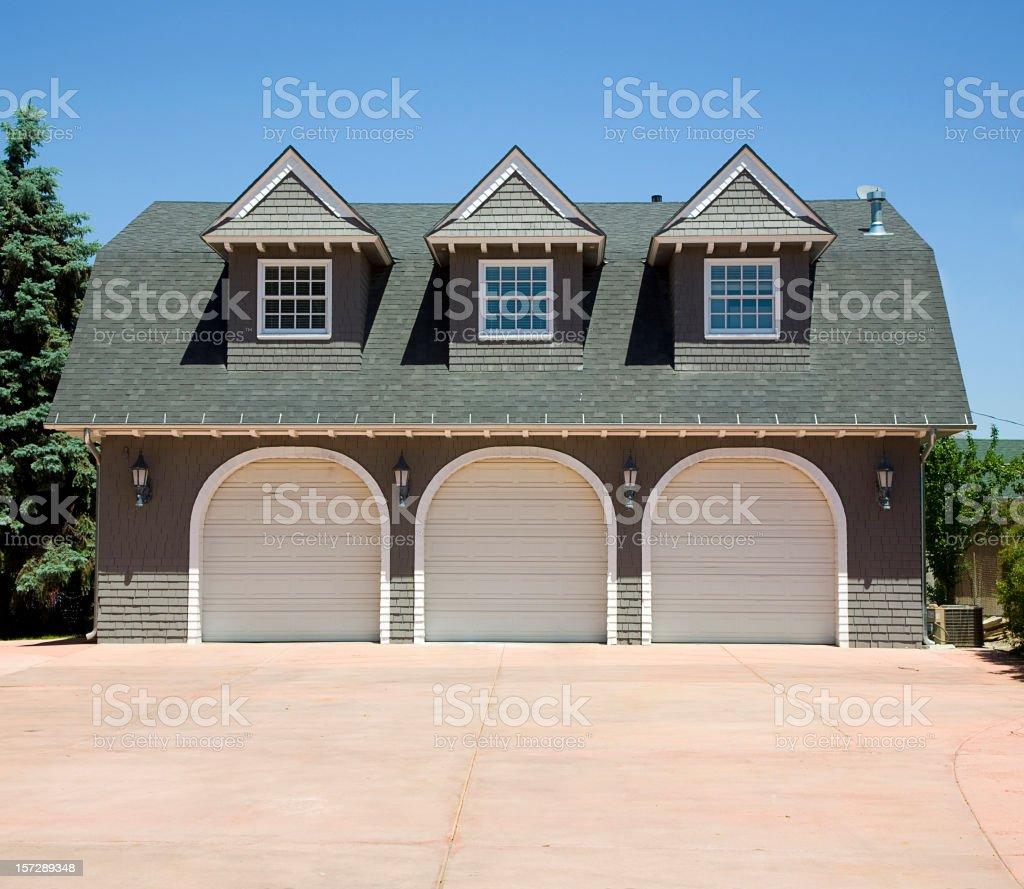 Three Car Garage stock photo