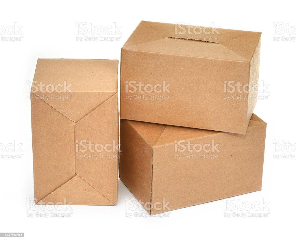 three cardboard boxes #2 royalty-free stock photo