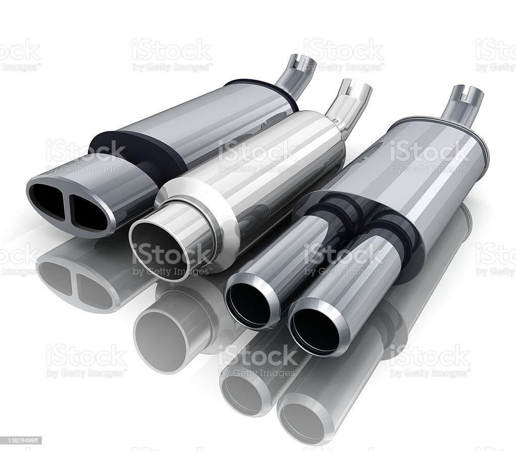 Three car-pipe stock photo