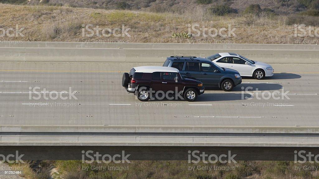Three Cars stock photo