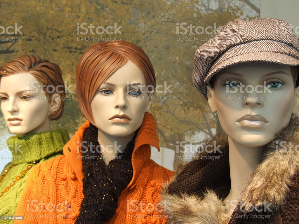 Three casual dummy girl friends royalty-free stock photo