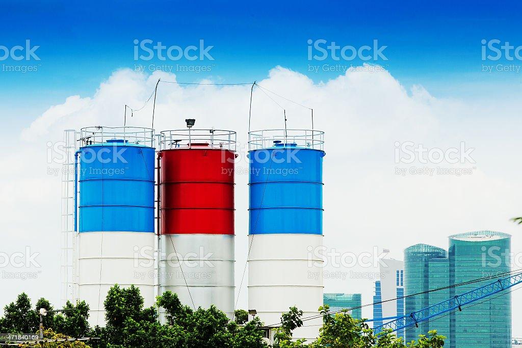 Three cement royalty-free stock photo