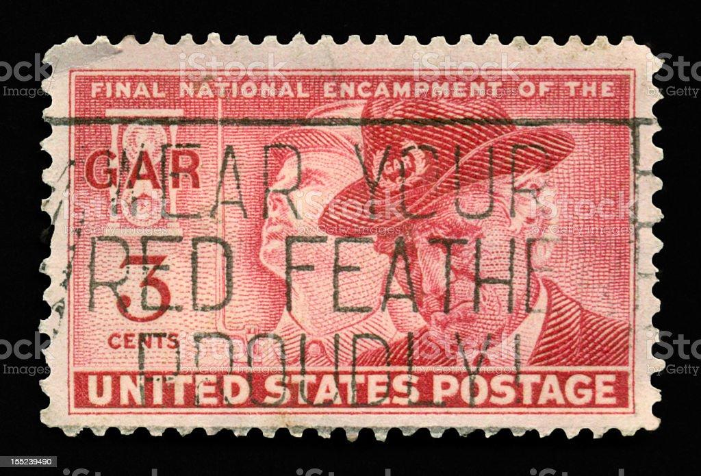 Three Cent Final National Encampment GAR stamp royalty-free stock photo