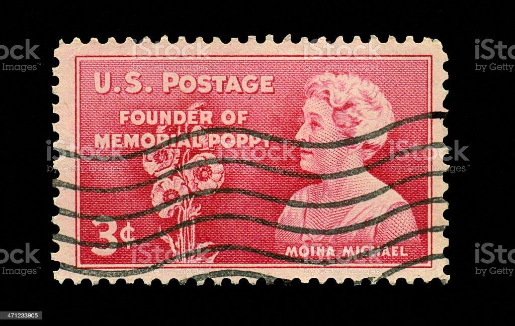Three Cent Moina Michael royalty-free stock photo