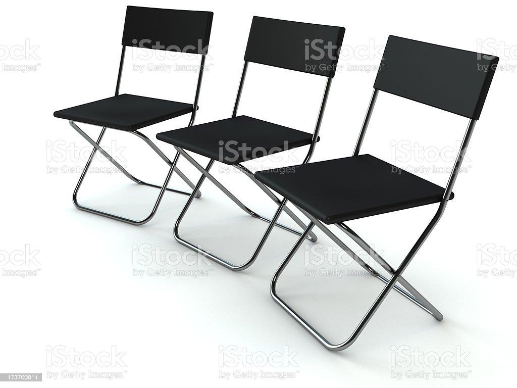 Three chairs royalty-free stock photo