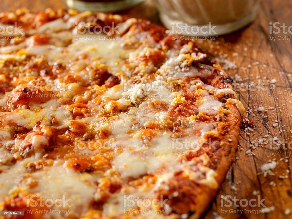 Three Cheese Flat Bread stock photo