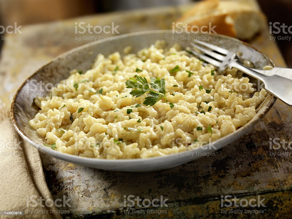 Three Cheese Risotto stock photo