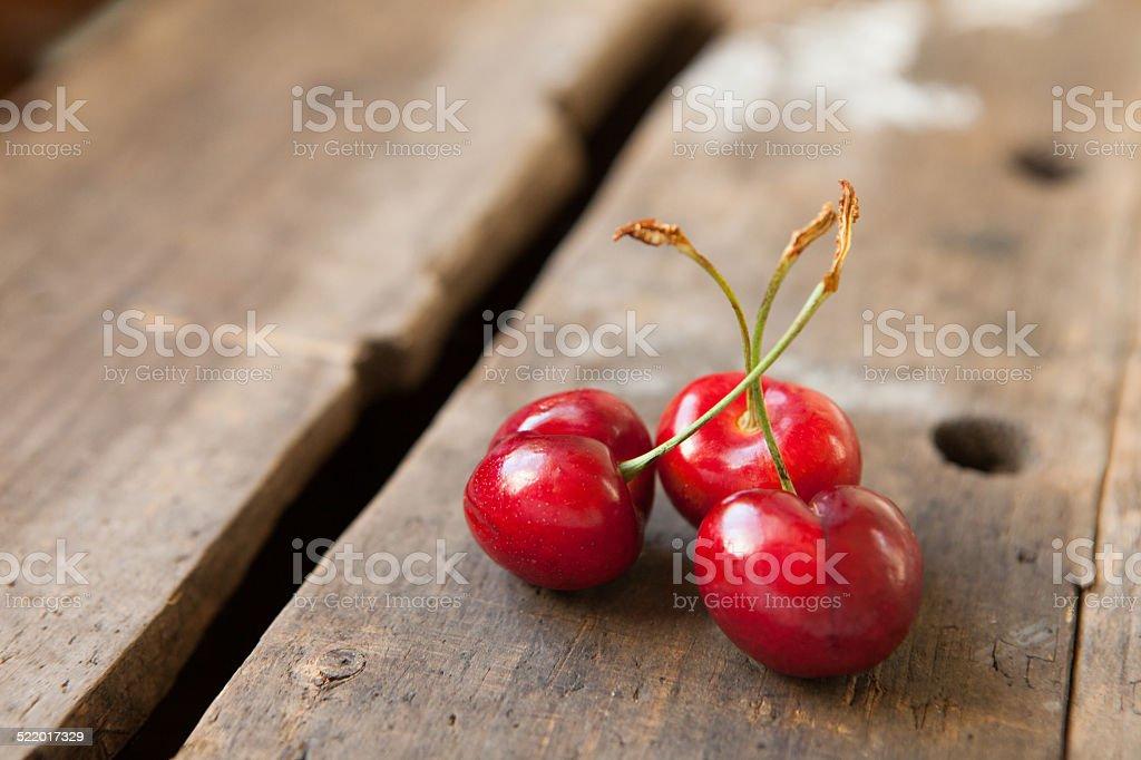 Three Cherries stock photo