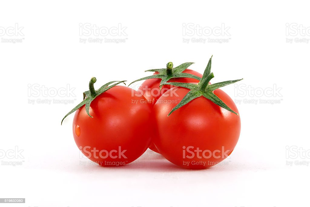Three Cherry Tomatoes stock photo
