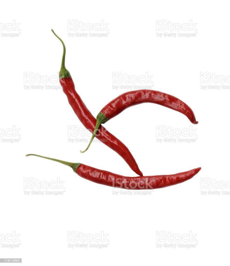 Three Chili Peppers stock photo