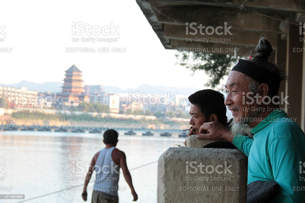 Tre uomini cinese, Jingdezhen foto stock royalty-free
