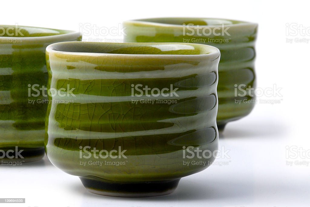 three chinese tea cups 2 royalty-free stock photo
