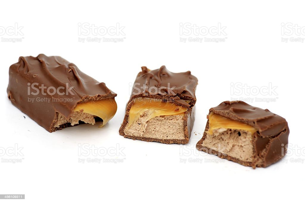 three Chocolate Pieces stock photo