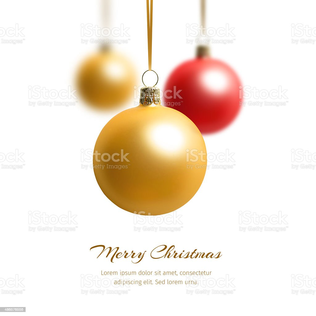 three christmas balls vector art illustration